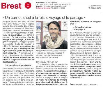 Ouest France Brest (29) Juin 2013