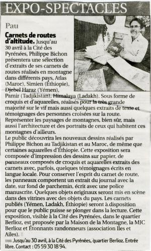 La République des Pyrénées Pau (64) Mars 2015