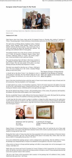 Yemen Times (YEMEN) Septembre 2010