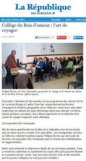 La République des Pyrénées Billère (64) Février 2013