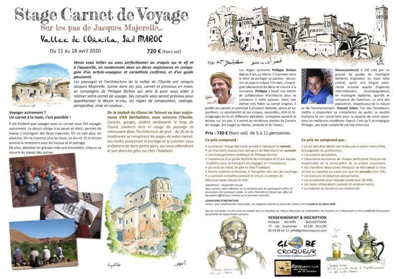 stage carnet de voyage maroc ounila 2020