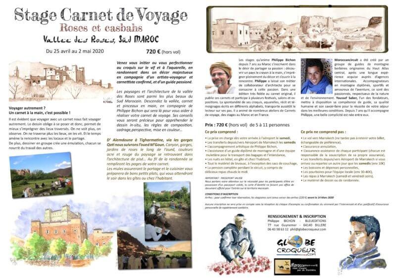 stage maroc vallée des roses 2020