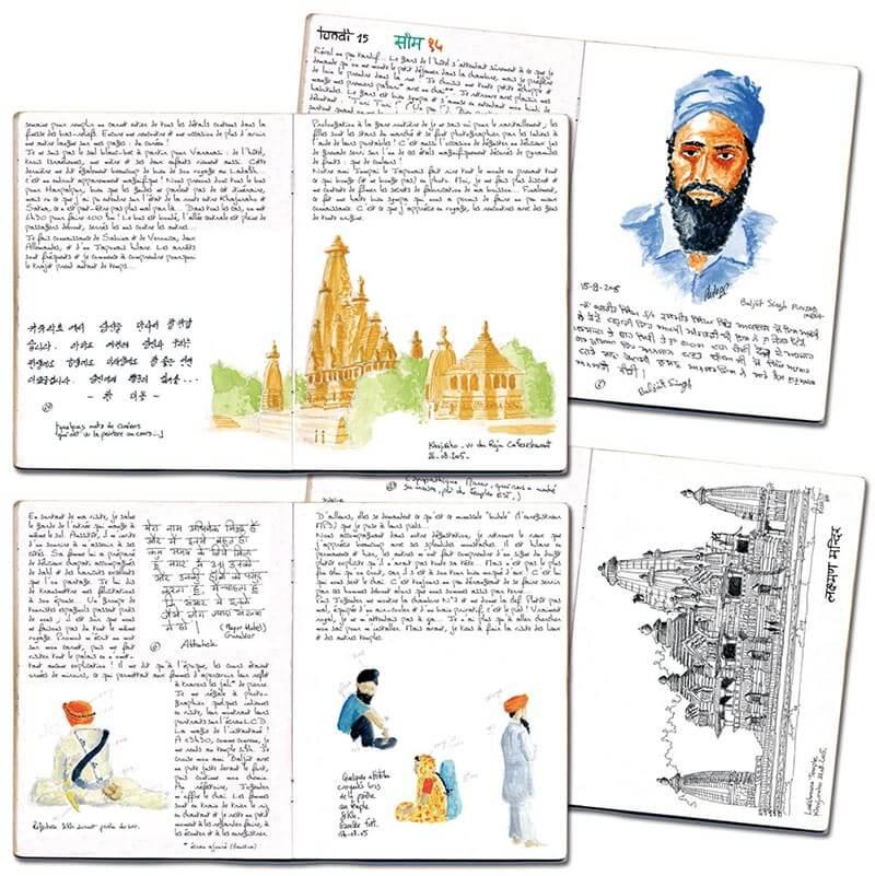 Carnet de route Inde Madhya Pradesh & Benares 4 pages
