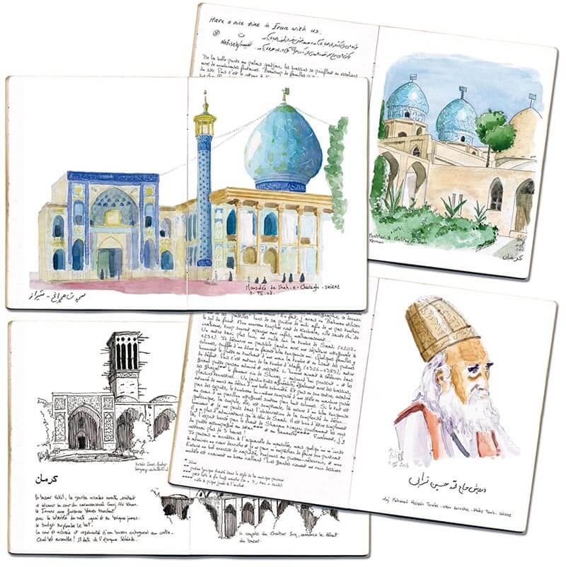 Carnet de route Iran 4 pages
