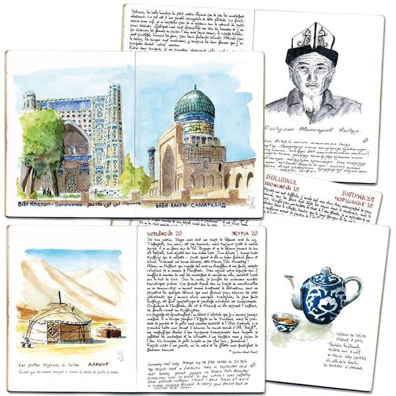 Carnet de route Ouzbékistan Tadjikistan 4 pages